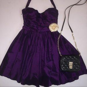 Beautiful Chambray Taffeta Prom Bustier Dress